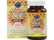 Vitamin Code Raw D3 2000 IU - Garden of Life - 120 - Capsule