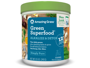 Alkalize & Detox Green Superfood 30 Serving - Amazing Grass - 8.05 oz - Powder