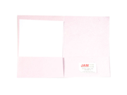 Baby Pink 9 x 12 Metallic Indian Handmade Recycled Folders - 100 folders per box