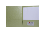 Lime Green 9 x 12 Metallic Indian Handmade Recycled Folders - 100 folders per box