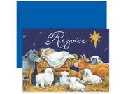 JAM Paper® - Rejoice Baby Jesus Christmas Card Pack - 18 Holiday Cards & Envelopes per pack Type: Stationery & Invitations