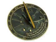 Rome Industries RM2307 Brass Sundial - Kiss of the Sun