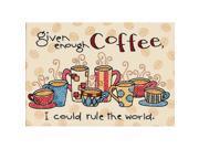 "Enough Coffee Mini Stamped Cross Stitch Kit-7""""X5"""""" 9SIV01U6Y27601"