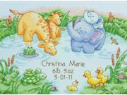 "12""""X9"""" 14 Count Little Pond Birth Record Counted Cross Stitch Kit Dimensions 70-73697"" 9SIA17P4N23759"