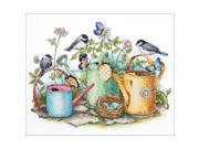 "Watering Cans Stamped Cross Stitch Kit-14""""X11"""""" 9SIA00Y51H1543"