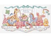"Toy Shelf Birth Record Counted Cross Stitch Kit-16""""X9"""""" 9SIV1976Y50362"