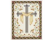 """His Cross Counted Cross Stitch Kit-8""""""""X10"""""""" 14 Count"""" 9SIV01U6Y34932"""
