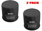 Oregon 83-301 (2 Pack) Oil Filter Replace Honda 15400-679-023 15400-POH-305