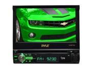 "PYLE PLBT72G 7"" 1-Din Motorized Touch DVD/CD/USB/Aux-In Player w/ Bluetooth & GPS"