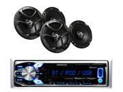 KMR-M312BT Marine Stereo Bluetooth/MP3/USB iPhone/Pandora Ready, 4 JVC Speakers