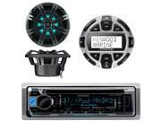 Kenwood KMR-D368BT Marine Boat Yacht CD MP3 Bluetooth Stereo AM/FM iPod iPhone Radio Player, Kenwood KCA-RC55MR Wired Remote, Kicker KM654LCW 6.5 Inch 2-way Mar 9SIA0NW5WA3621