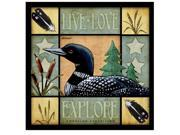 American Expedition Square Coasters Lodge Series Loon CTSQ-621