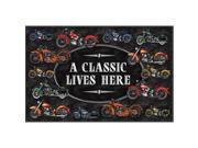 River's Edge A Classic Motorcycle Door Mat 1876