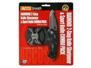 AccuSharp Sport Diamond  Diamond Two Step & Black Sport Knife Combo  Plain Edge  Aluminum  Black 046C