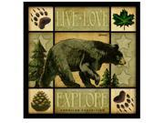 American Expedition Square Coasters Lodge Series Bear CTSQ-601