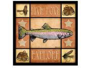 American Expedition Square Coasters Lodge Series Trout CTSQ-612