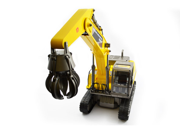 Huge Remote Control Crane Grabber Construction Truck W/Working Arm & Hook Premium Hobby Engine