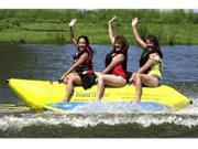 Yellow 3 Person Banana Boat Inflatable Raft