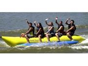 5 Person Yellow Banana Boat Inflatable Raft Measures 17 Feet Long