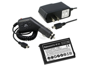 Battery + Car + Travel Charger compatible with HTC T-Mobile Google G1