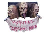 3 Face Zombie Wall Plaque Prop