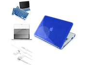 eForCity 4in1 Accessories Clear Dark Blue Hard Case Cover For Apple® Macbook Pro® 13
