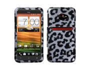 Black Leopard (2D Silver) Skin Phone Protector Cover for HTC EVO 4G LTE