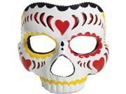 Day Of The Dead Mask (Female) Adult Accessory