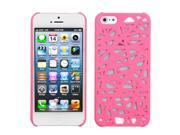 Apple iPhone 5/5S Case, Bird's Nest Rubberized Hard Snap-in Case Cover for Apple iPhone 5/5S, Pink