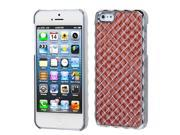 Apple iPhone 5/5S Case, Weave Glitter Hard Snap-in Case Cover With Diamond for Apple iPhone 5/5S, Brown/Silver