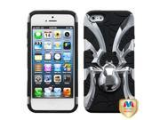 Apple iPhone 5/5S Case, Spidebite Spiderbite Dual Layer [Shock Absorbing] Protection Hybrid PC/Silicone Case Cover for Apple iPhone 5/5S, Black/Silver