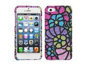 Apple iPhone 5/5S Case, Rhinestone Diamond Bling Hard Snap-in Case Cover for Apple iPhone 5/5S, Colorful