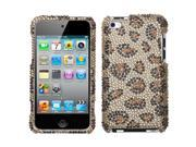 MYBAT Leopard Skin/Camel Diamante Protector Cover for Apple® iPod touch® (4th generation)