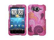 MYBAT Spiral Hearts Diamante Phone Protector Faceplate Cover Compatible With HTC Inspire 4G 9SIA0PG0K04505