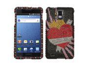 MYBAT Diamante Phone Protector Case compatible with Samsung© I997 (Infuse 4G), Heartbreaker