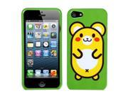 Apple iPhone 5/5S Case, Cute Hamster Hard Snap-in Case Cover for Apple iPhone 5/5S, Green/Yellow