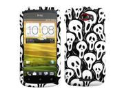 MYBAT Ghostly Screaming Faceplate Hard Plastic Protector Snap-On Cover Case Compatible With HTC One S