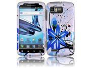HRW for Motorola Atrix 2 MB865 Design Cover - Blue Splash