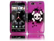 HRW for Motorola XT913/XT916 Droid Razr Maxx Design Cover - Pink Skull