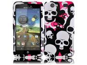 HRW for Motorola Atrix 3 MB886 Atrix HD(AT & T) Design Cover - Pink Falling Skull