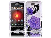 HRW for Motorola Droid 4 XT894 Design Cover - Violet Lilly
