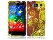 HRW for Motorola Droid Razr Maxx HD XT926M(Verizon)(T Mobile) Full Diamond Cover - Elegant Swirl