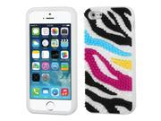 MYBAT Colorful Zebra Skin Spike / White Pastel Skin Case with Package compatible with Apple iPhone 5s / iPhone 5