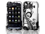 BJ For Huawei Fusion 2 U8665 Rubberized Design Cover - Black Vines