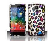 BJ For Motorola Droid RAZR Maxx HD Rubberized Hard Design Case Cover - Colorful Leopard