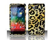 BJ For Motorola Droid RAZR Maxx HD Rubberized Hard Design Case Cover - Cheetah
