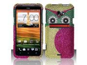 BJ For HTC Evo 4G LTE Full Diamond Design Case Cover - Owl