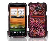 BJ For HTC Evo 4G LTE Rubberized Hard Design Case Cover - Cheetah Skulls