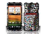 BJ For HTC Evo 4G LTE Rubberized Hard Design Case Cover - White Safari