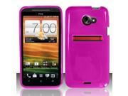 BJ For HTC Evo 4G LTE TPU Gel Skin Case Cover w/ Pattern - Hot Pink